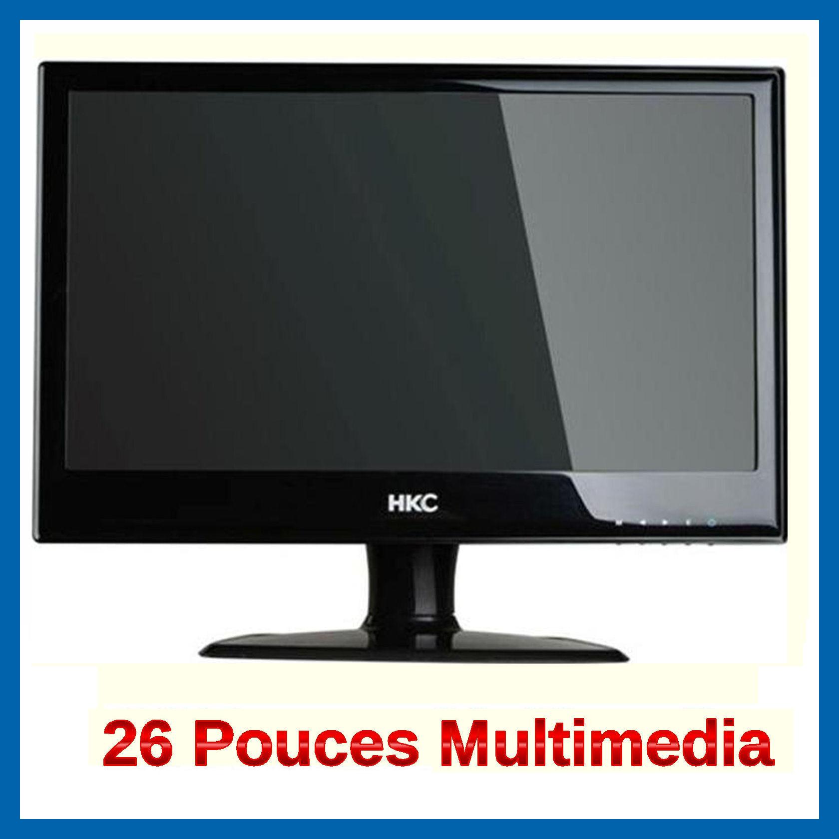 Ecran pc moniteur 26 pouces led multimedia neuf ebay for Test ecran pc 27 pouces